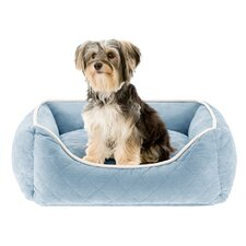 Keane  Quilted Orthopedic Foam Rectangular Cuddler Bloster Dog Bed