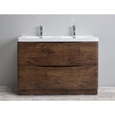 "Smile® 48"" Double Modern Bathroom Vanity Set"