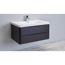 "Smile 36"" Single Modern Bathroom Vanity Set"