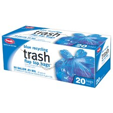 Recycling Trash Bags (Pack of 20) (Set of 12)