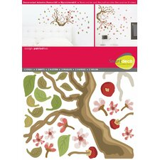 78 Piece Painted Tree Wall Decal