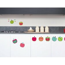42 Piece Pop Apples Wall Decal