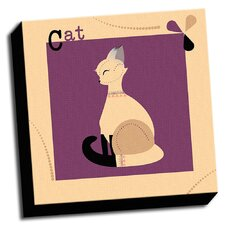 A is For Animals Cat Kids Graphic Art on Wrapped Canvas
