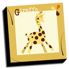 A is For Animals Giraffe Kids Graphic Art on Wrapped Canvas