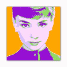 8 Bit Our Fair Lady Modern Graphic Art on Wrapped Canvas