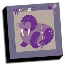 A is For Animals Walrus Kids Graphic Art on Wrapped Canvas