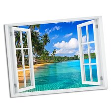 Declined Palms Paradise Window Art Wall Decal