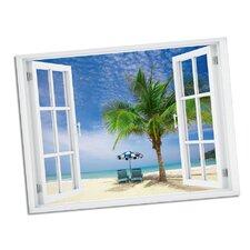 Palm Chairs Paradise Window Art Wall Decal