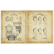 'Bathroom Patent Drawings' 2 Piece Graphic Art