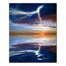 'Weather Wonders Reflection of Lightning' Photographic Print on Canvas