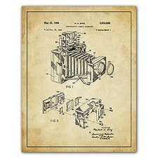 'Camera Accessory Patent Drawing' Graphic Art
