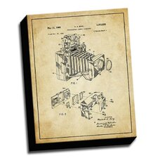 'Camera Accessory Patent Drawing' Graphic Art on Canvas