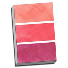 'Princess Pink Color Palette' Wall Art  on Canvas