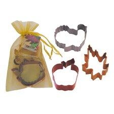 3 Piece Thanksgiving Cookie Cutter Set In Bag