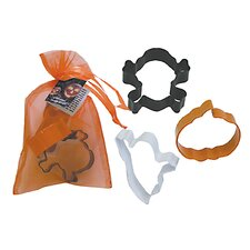3 Piece Halloween Cookie Cutter Set In Bag