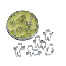 5 Piece Baby Cookie Cutter in Tin