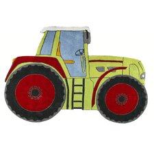 Kinderteppich Traktor in Grün