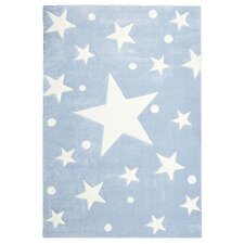 Kinderteppich Stars in Blau