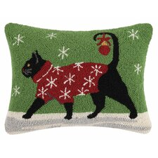 Holiday Pets Hook Cotton Throw Pillow