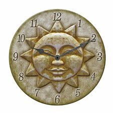 "12"" Outdoor Sun Clock"
