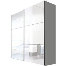 Schwebetürenschrank Solutions Bianco, 216 cm H x 200 cm B x 68 cm T