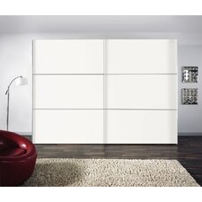 Schwebetürenschrank Solutions Bianco, 250 cm B