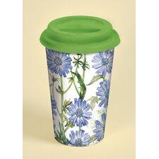 12 oz. Blue Chicory Ceramic Travel Cup
