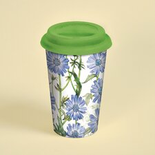 Blue Chicory Ceramic Travel Cup