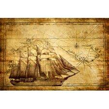 Schild Sea Journey, Grafikdruck
