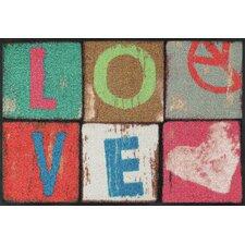 Fußmatte Love Letters