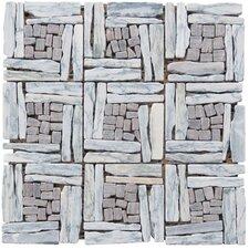 "Landscape Wonder 1"" x 4"" Random Sized Stone Mosaic Tile in Gray"