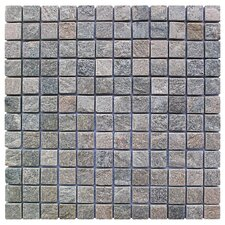 "Landscape Wonder 1"" x 1"" Stone Mosaic Tile in Gray"