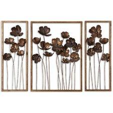 Tiel 3 Piece Tulips Wall Décor Set