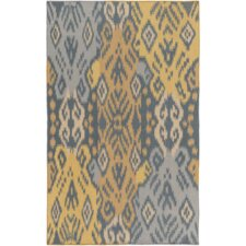 Jardine Hand-Woven Teal/Gold Area Rug
