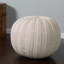 Hand Knitted Traditional Pouf Ottoman