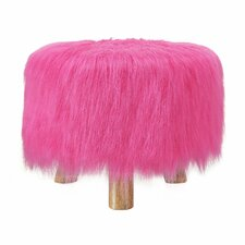 Sahraoul Faux Fur Stool