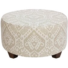 Noires Round Cocktail Upholstered Ottoman