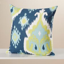 Frisange Ikat Cotton Throw Pillow