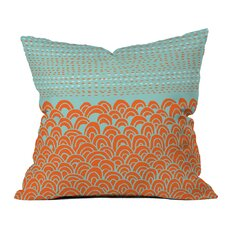 Talatast The Infinite Tidal Light Blue Outdoor Throw Pillow