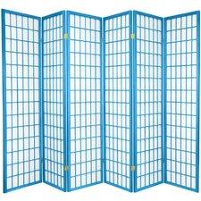 "Leiva 70"" x 84"" Pane Shoji 6 Panel Room Divider"