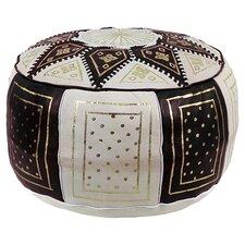 Mouassine Leather Pouf Ottoman