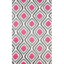 Mosca Hand-Woven Pink Area Rug