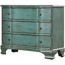 Bennay 3 Drawer Crackle Accent Chest