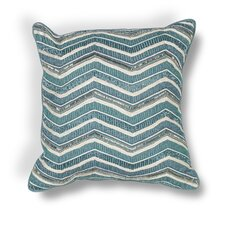 Zelma Chevron Cotton Beading Throw Pillow