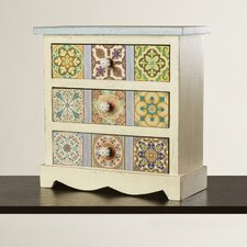 Oua-Oue 3 Drawer Canvas Table Chest