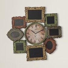 Loft Metal Clock With Photo Frame