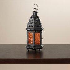 Wes Sunset Iron and Glass Lantern