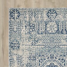 Ferry Ivory/Blue Area Rug