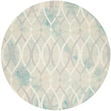 Castries Hand-Tufted Green/Ivory/Gray Area Rug