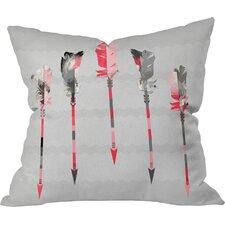 Terra Feathers Throw Pillow